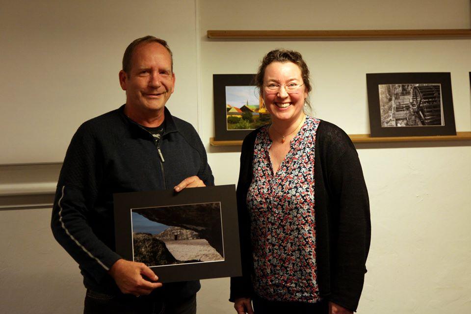 Vinderen Finn Christensen i Ribe Fotoklubs fotokonkurrence